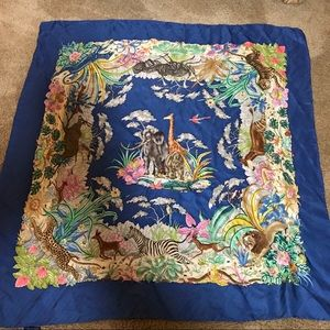Vintage silk xl scarf